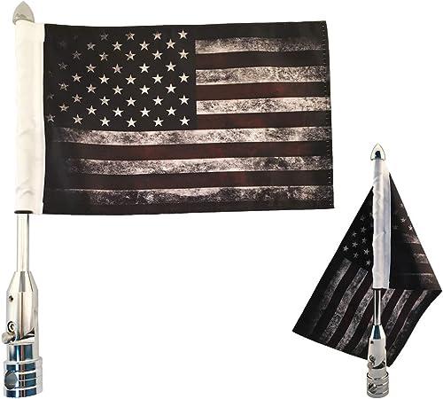 Excellent Motorcycle American Flag,Thin Blue Line USA Pole Mount Flag Pole For Honda Harley Kawasaki Suzuki Yamaha