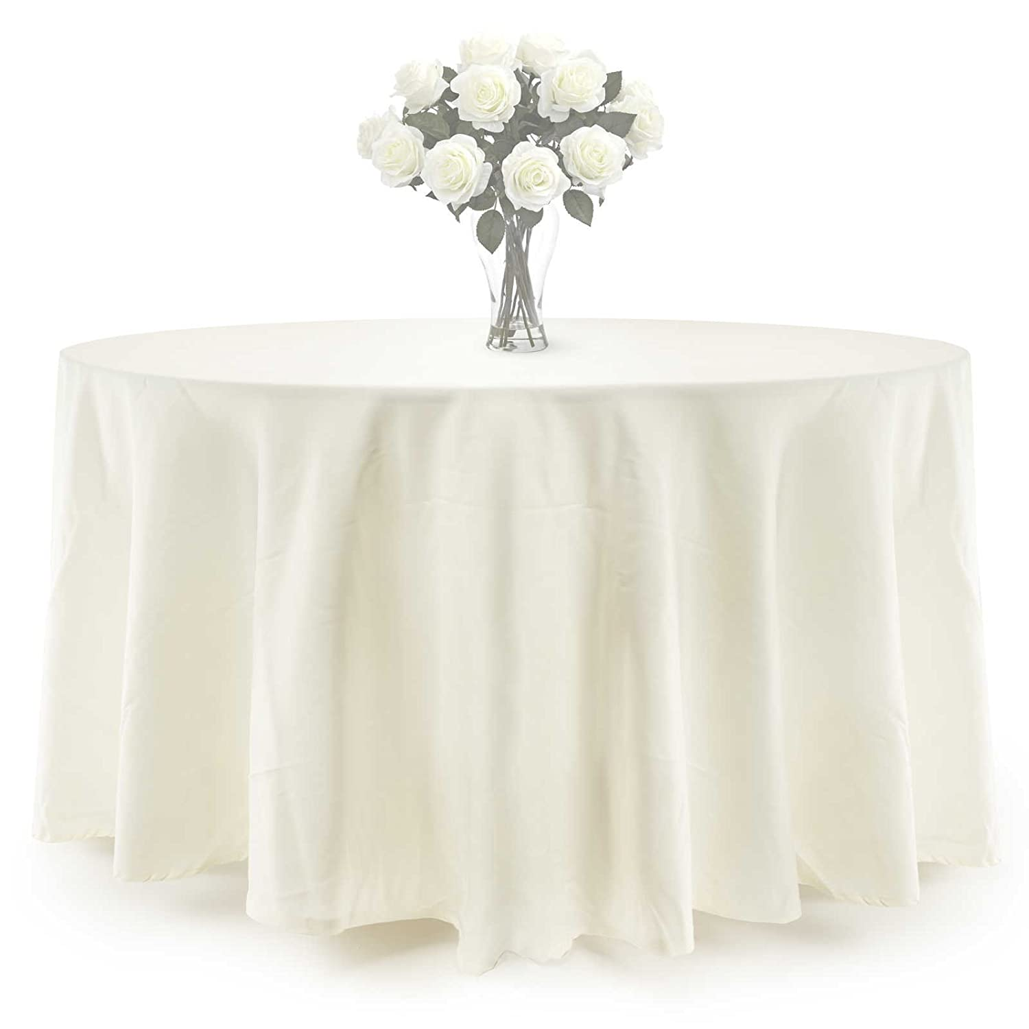 Amazon.com: Lannu0027s Linens   10 Pcs 120 In. Round PREMIUM WEIGHT Seamless  Tablecloths   For Wedding Or Party Use   Ivory: Home U0026 Kitchen