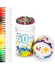 Rotuladores 60 colores, Chuangmeida lápices de acuarela, pinceles de arte, lápices de colores