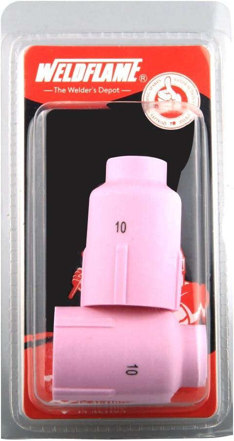 10-pk 53N88 #10 TIG Welding Large Ceramic Gas Lens Cup Tig Torch 9//17//18//20//26
