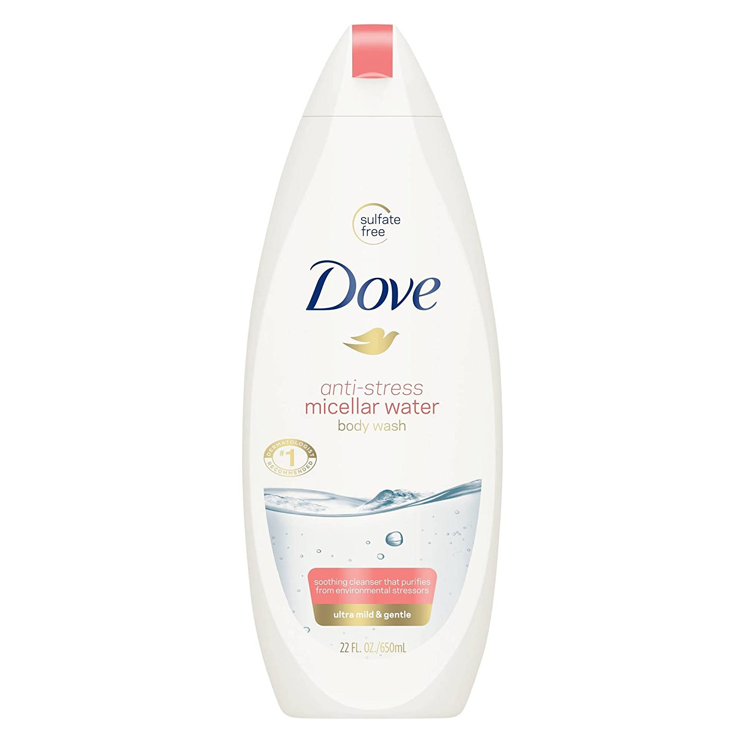 Dove Body Wash Micellar Water 22oz, pack of 1