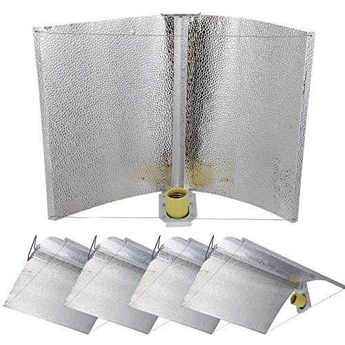 Yescom 5pc 27″x18″ Adjustable Wing Reflector Hood for Hydroponic 1000w 600w 400w 250w HPS MH Grow Tent Light Kit For Sale