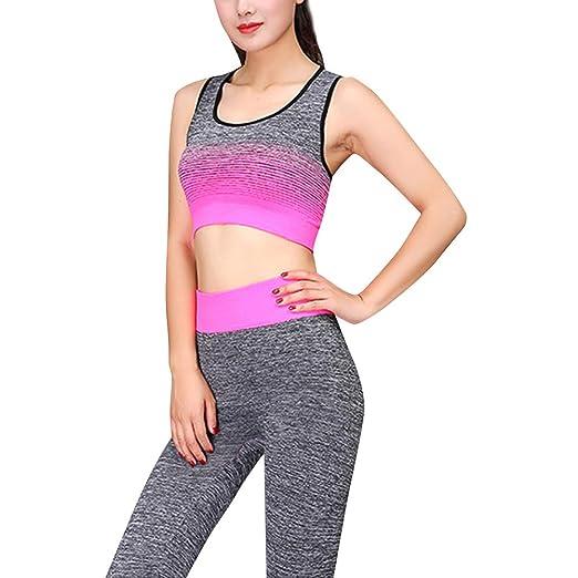 iSunday Yoga Juego Mujer Sports Top Sujetador Leggings ...