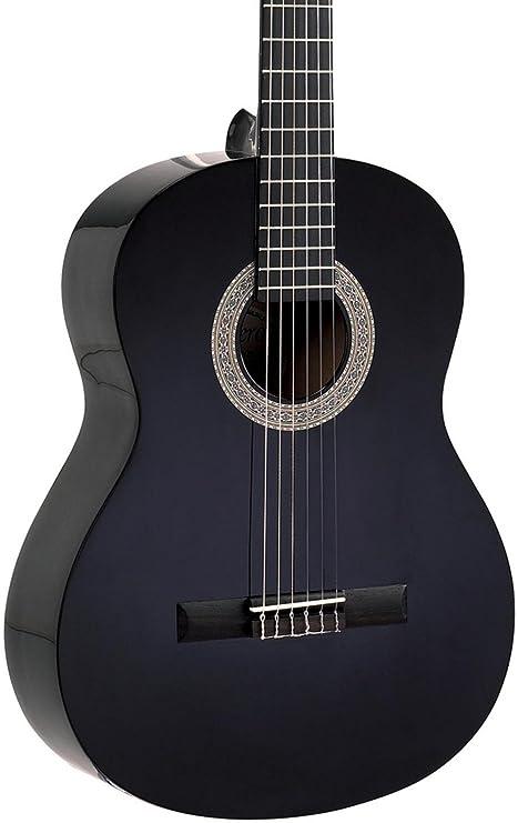 LUCERO LC100 – Guitarra clásica, color negro