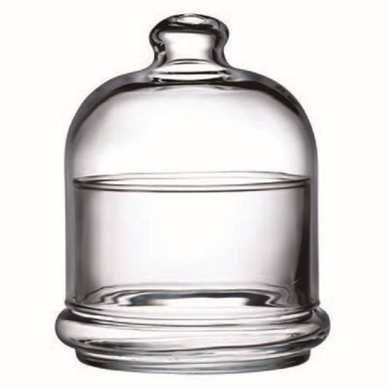 Unbekannt Konfetti-Box mit Kuppel und Glasuntertasse cl 22 cod.23.98973 cm 10h diam.9 by Varotto & Co.