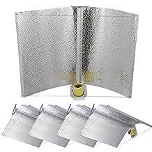 "Yescom 5pc 27""x18"" Adjustable Wing Reflector Hood for Hydroponic 1000w 600w 400w 250w HPS MH Grow Tent Light Kit"