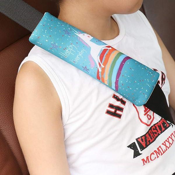 Color Name : Red YFCTLM Seat belt pad Baby Kids Stroller Cushion Car Seat Vehicle Safety Shoulder Strap Cover Pad Protection children shoulder belt strap cover
