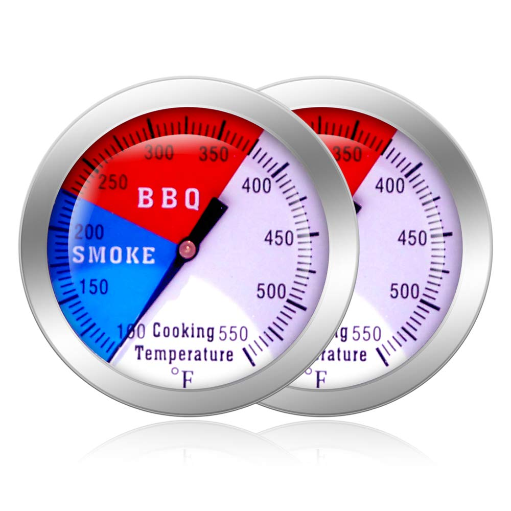 ✅ Stainless Steel Barbecue BBQ Pit Smoker Grill Thermometer Gauge 60-430℃ Tool