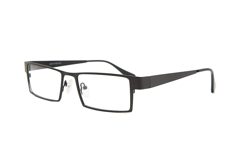 75bf153839a SmartBuy Collection Maxim Unisex Prescription Eyeglass Frames - Full Rim  Rectangular Designer Glasses Frame - Maxim Black at Amazon Men s Clothing  store