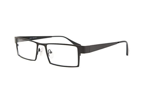 fbdb0e23b5 SmartBuy Collection Maxim Unisex Prescription Eyeglass Frames - Full Rim  Rectangular Designer Glasses Frame - Maxim Black at Amazon Men s Clothing  store