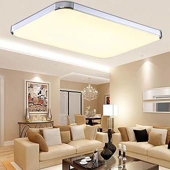 MCTECH 48W Warmweiß Deckenleuchte Modern Deckenlampe Flur Wohnzimmer ...