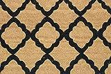 Home Garden Hardware 36507 Moroccan Tile 18x30'' Printed Coir Doormat,Natural,Small