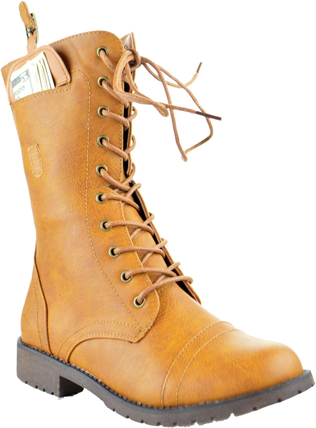 Nature Breeze Delta 01 Side Pocket Military Lace Up Combat Boots