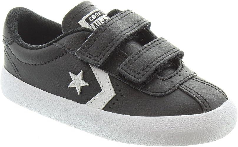 kids black leather converse