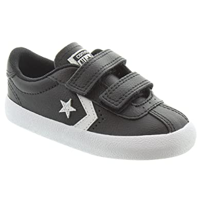 3572c4a4a8a0b4 Converse - Kids Breakpoint 2V Velcro Shoes In Black Leather  Amazon ...