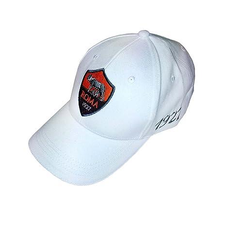 cappellino cotone Roma bianco  Amazon.it  Sport e tempo libero ec6a2ccd213c
