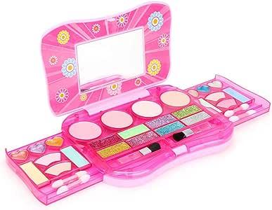 planuuik Fashion Cosmetics Set Paleta de Maquillaje Plegable Espejo Kit de Juguete para niñas: Amazon.es: Hogar