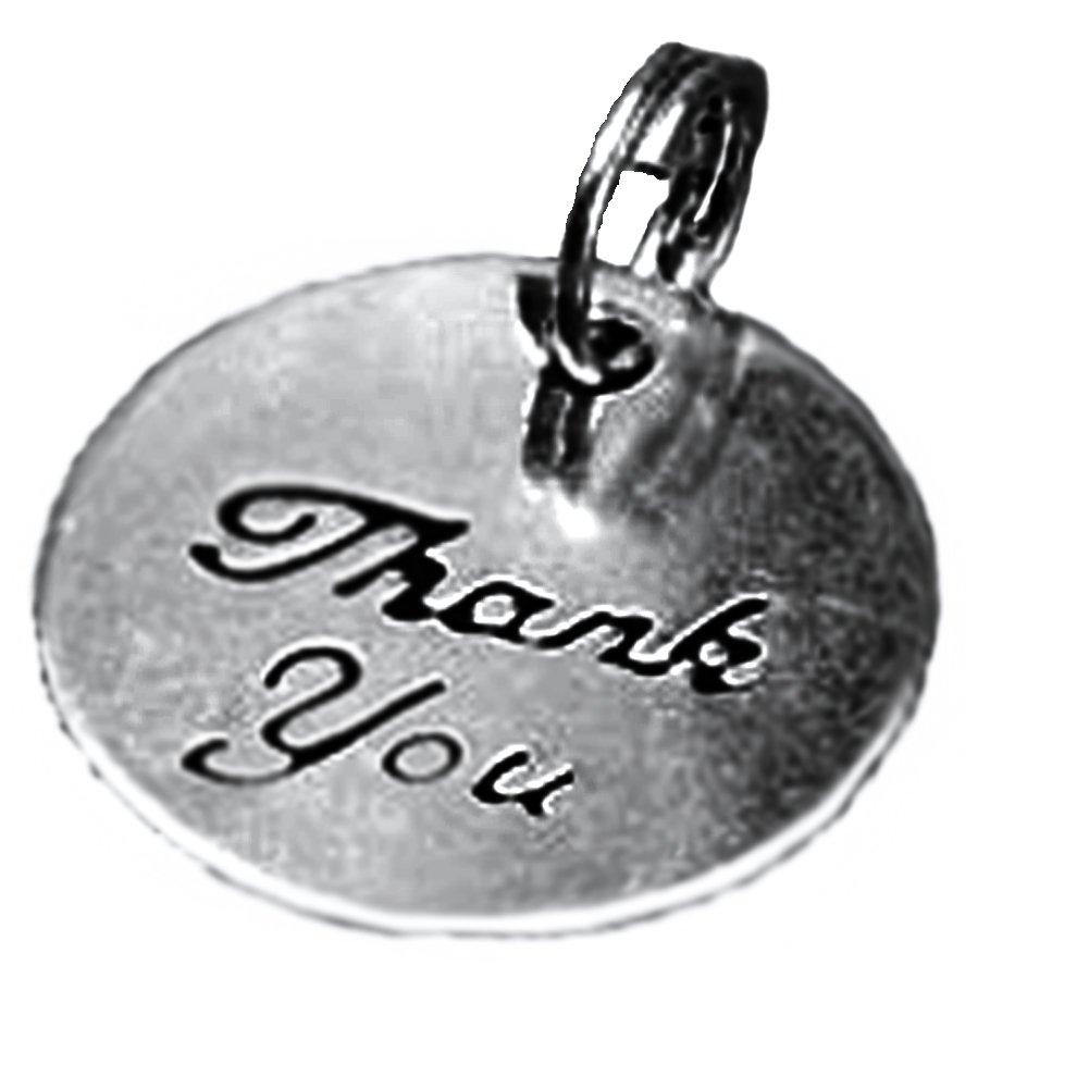 Amazon.com: Charms - Thank You - Silver - Round - 20 pieces