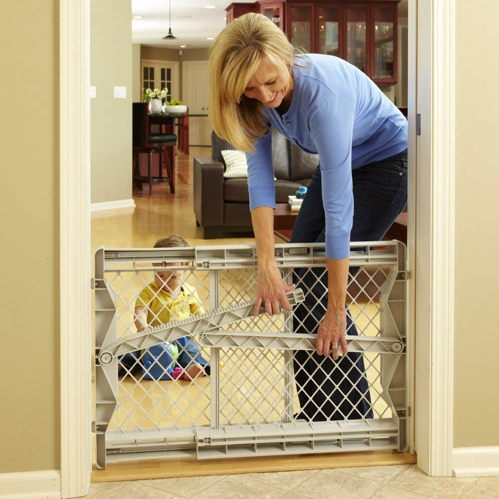 North States Top Notch Plastic Pressure Mounted Baby Pet Safety Gate (3 Pack) by North States (Image #4)