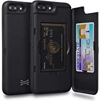 TORU CX PRO Compatible with iPhone 8 Plus/iPhone 7 Plus Case - Protective Dual Layer Wallet with Hidden Card Holder + ID…