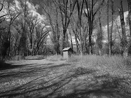 24 x 36 B&W Giclee Print of A Lonely Outhouse for use by Colorado River Fishermen and Women at The Sheriff Ranch at The headwaters of The Colorado River Near Hot Sulphur Springs in 2016 Highsmith 98a