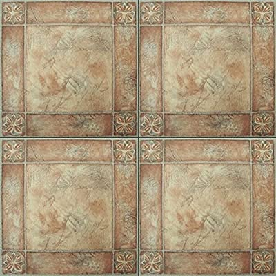 120 Pieces Peel and Stick Vinyl Floor Tile Self Stick Marbel Stone looking Tiles Adhesive Flooring 12''x12'' 446