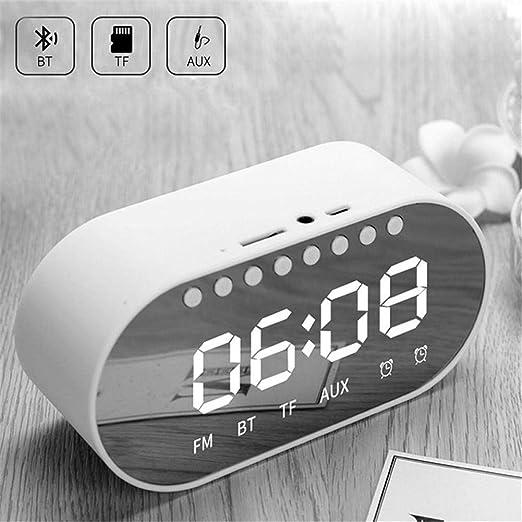 Reloj Despertador LED: Reloj Despertador Digital Altavoz Bluetooth ...