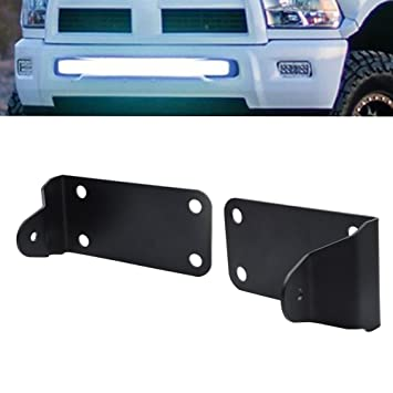Amazon for 40inch curved led light bar hidden bumper mount for 40inch curved led light bar hidden bumper mount brackets fits 2010 2017 dodge ram aloadofball Image collections