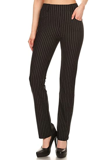7dfceda263422 Leggings Depot Women's All Around Comfort Office Slimming Pants ...