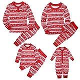 Puseky Family Matching Christmas Pyjamas Set Dad Mom Kids Baby Sleepwear Outfits