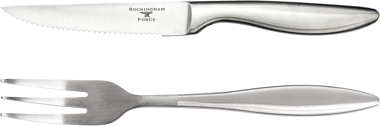 Rockingham Forge Forchetta da bistecca Coltello bistecca acciaio inox