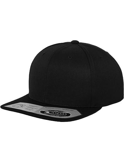 Flexfit Mütze 110 Fitted Snapback - Gorra de náutica, Color Negro, Talla DE: