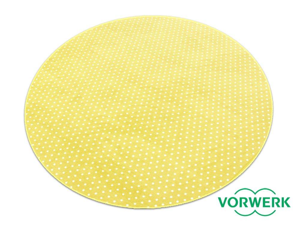 Vorwerk Bijou Petticoat gelb Teppich   Kinderteppich   Spielteppich 200 cm Ø Rund SondeROTition