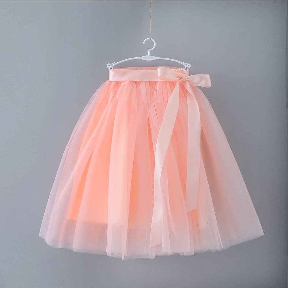 Zcaynger Girls Skirt Tutu Dancing Dress 5-Layer Fluffy with Ribbon by Zcaynger (Image #3)