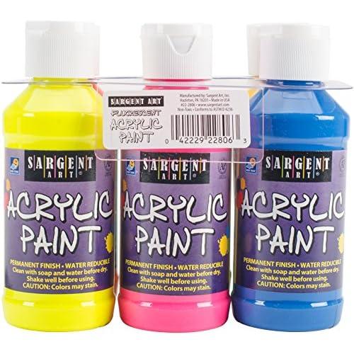 22-2806 Sargent Art Fluorescent Acrylic Paint Set, 4 Ounce, 6-Pack supplier