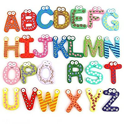 Kekailu Fridge Magnet,26 Alphabet Magnetic Letters A-Z Wooden Fridge Magnets Baby Kid Education Toys: Home & Kitchen [5Bkhe0306232]