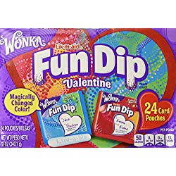 Wonka Fun Dip Valentine Card & Candy Kit 24 Count