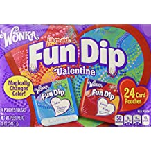 Wonka Fun Dip Valentine Card & Candy Kit 24 Count