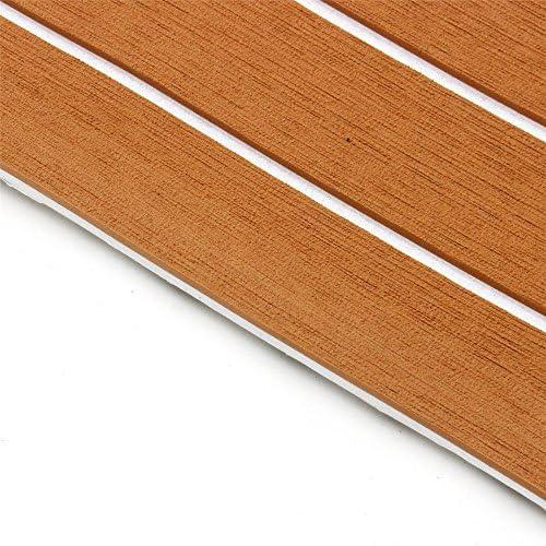 Queenwind 900mmx2400mmx 5.5 mm ライトブラウンおよび白エヴァの泡の偽のチーク材のシートボートのヨットの合成チークのデッキ
