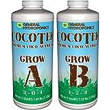 General Hydroponics GH3262 Cocotek Grow a QT Hydroponic Base Nutrient, White