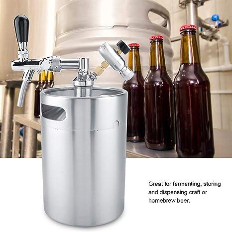 5L de Acero Inoxidable Barril de Cerveza Cerveza cervecera Kit de fabricación Cerveza Barril Dispensador Inicio Cerveza Artesanal Cerveza: Amazon.es: Hogar
