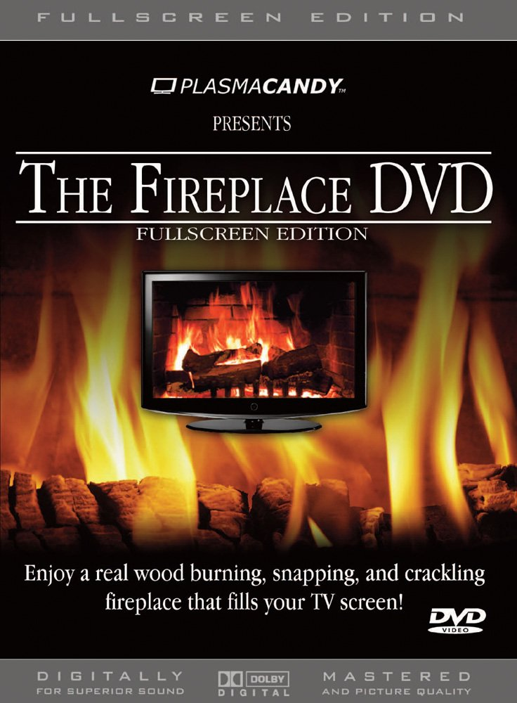 Amazon.com: Fireplace DVD: Real Wood Burning Fire (Anamorphic ...