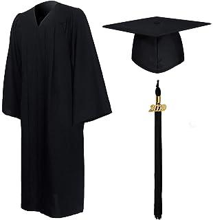 adde127b016 GraduationMall Matte Graduation Gown Cap Tassel Set 2019 for High School  and Bachelor