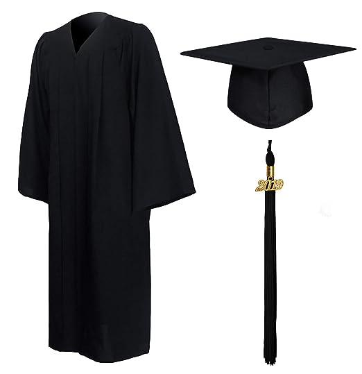 fea39d0194efd GraduationMall Matte Graduation Gown Cap Tassel Set 2019 for High School  and Bachelor