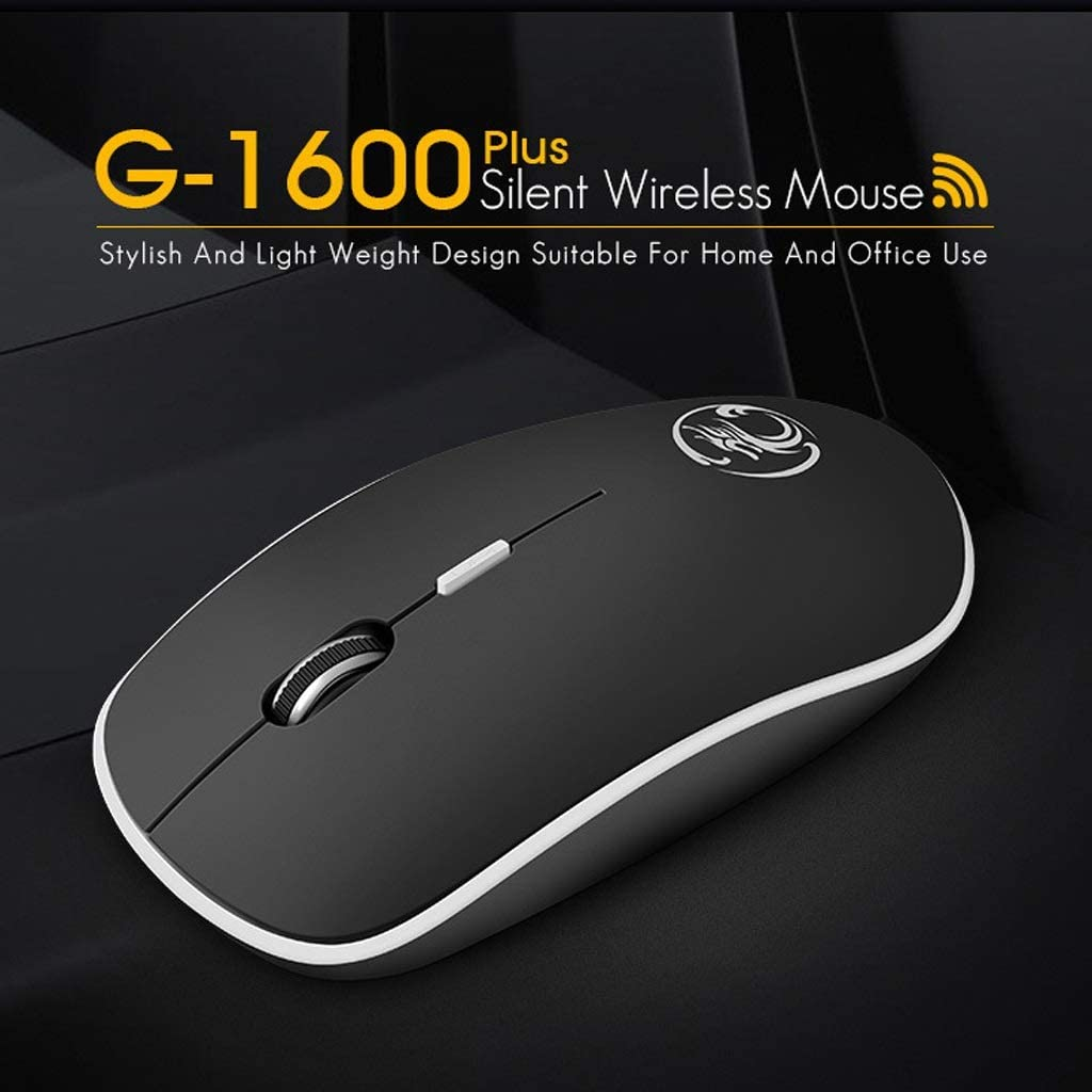 Mouse L115mm /× W65mm /× H33mm ka Suitable for PC//Tablet//Laptop Color : Gray USB Port Feels Comfortable 4 Colors Wireless Computer Mouse Mute and Smooth