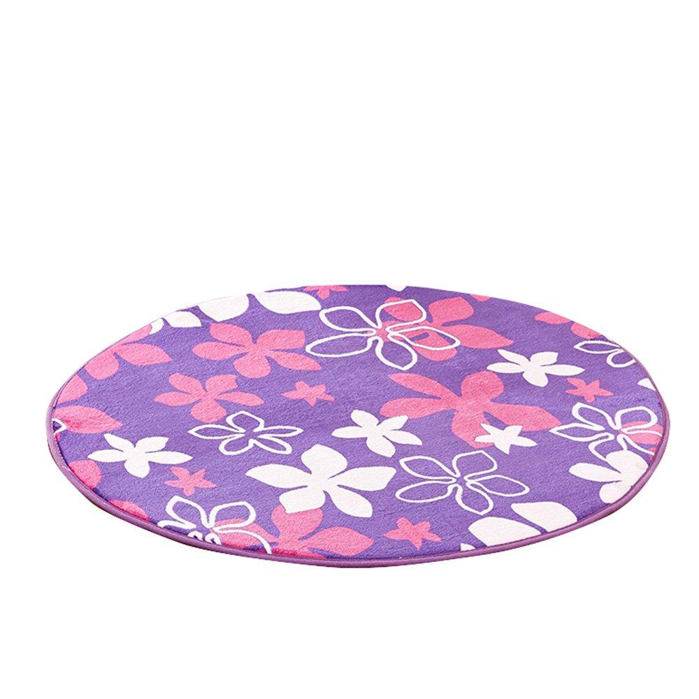 Child crawling mat / soft skin-friendly carpet / gondola computer seat cushion / bedroom cute bedside rug / round mats / ( Size : 200cm )