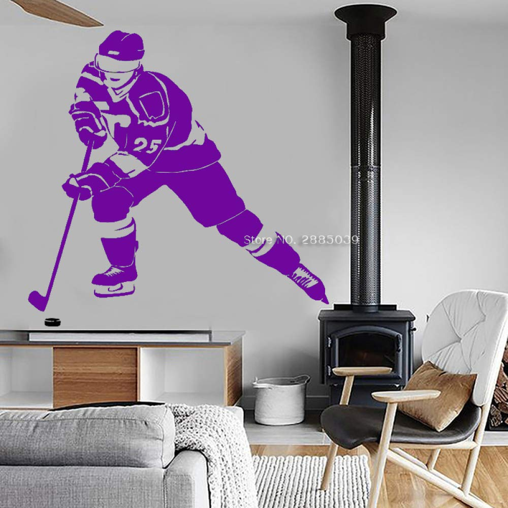 guijiumai Hockey Player Winter Sport Wall Vinyl Decal ...