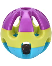 SuxiDi Dog Cat Rabbit Colorful Plastic Pet Toy Ball with Bell