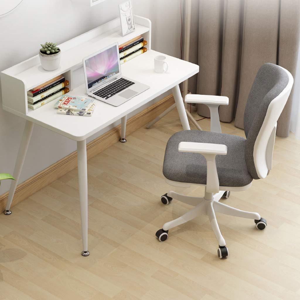 Kontorsstol datorstol hem tyg fritid svängbar stol vit BLÅ