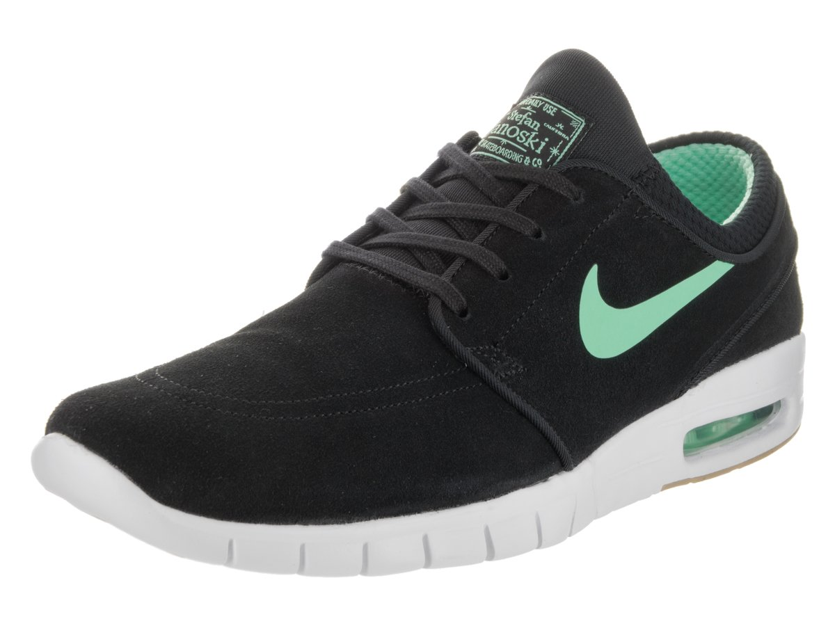 NIKE Men's Stefan Janoski Max L Skate Shoe B01LYYUL4E 10 D(M) US|Black/Green/Glow White/Gum/Light Brown